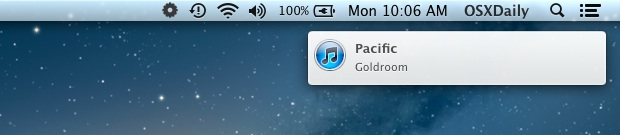 "Show a ""Now Playing"" song alert from iTunes in Notification Center"