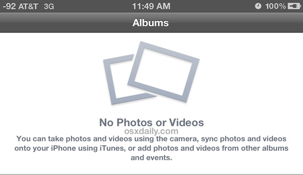 Remove all photos from Camera Roll on iPhone