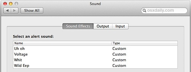 Get Classic Macintosh System Sounds in Mac OS X