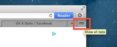 See all browser tabs in Safari and navigate between them