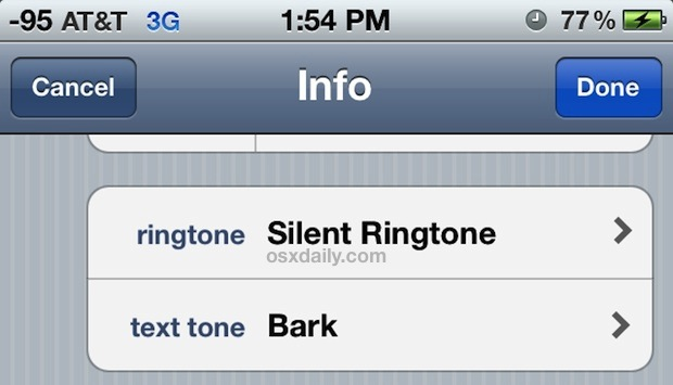 Use a Silent Ringtone on iPhone to ignore specific callers
