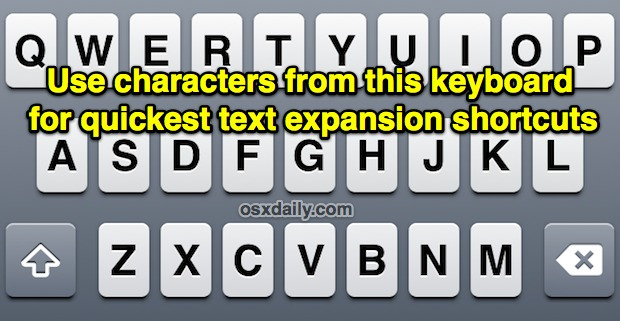 iOS Text Expansion tip