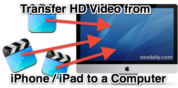 Transfer Video from iOS to a Computer
