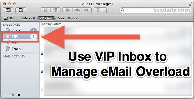VIP Inbox in OS X helps to manage email overload