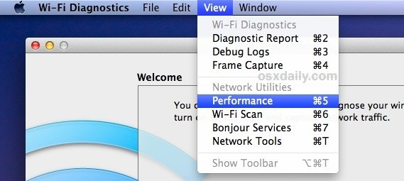 Wi-Fi tools Mac OS X