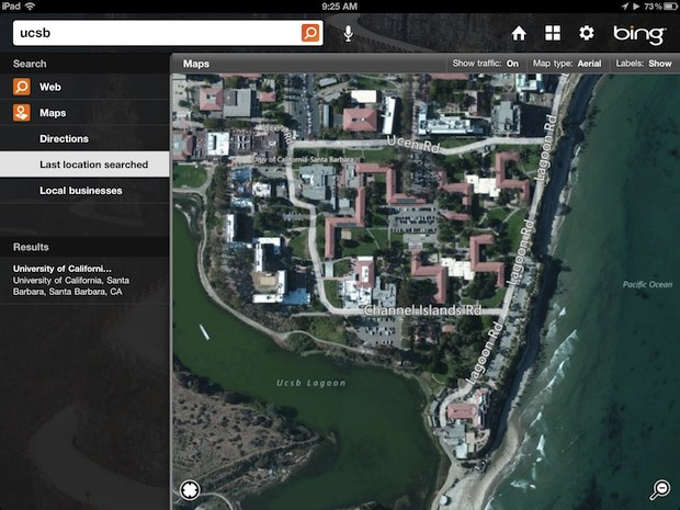 Bing Maps for iPad