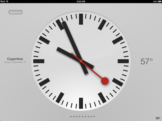 Get weather through the Clock app on iPad