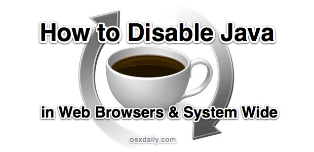 How to Disable Java