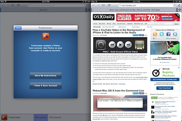 Firefox for iPad aka Foxbrowser
