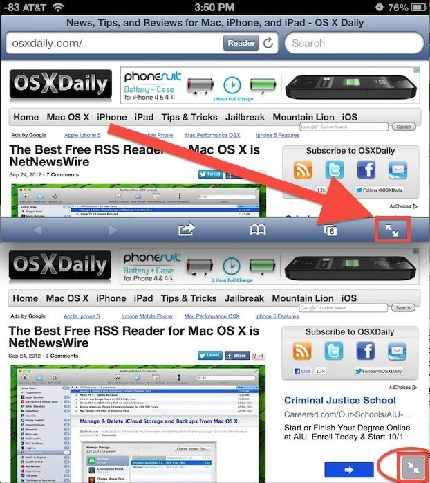 Full Screen Safari in iOS