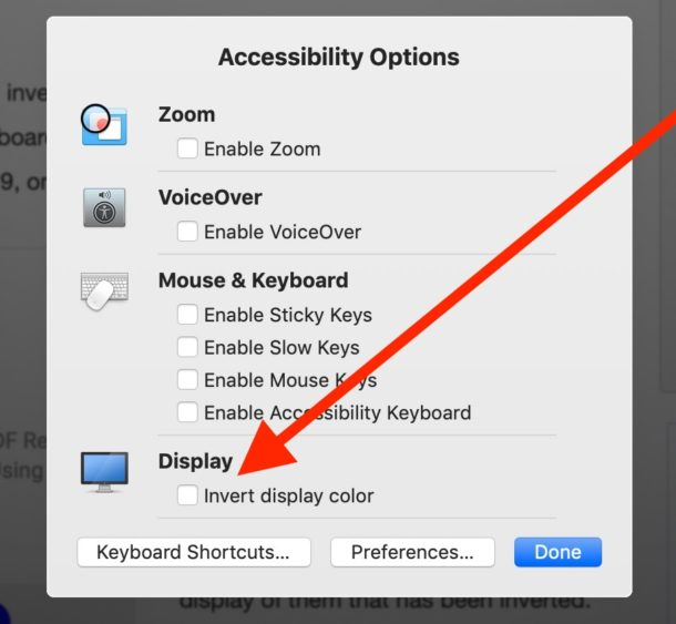 How to Invert Screen Colors on Mac