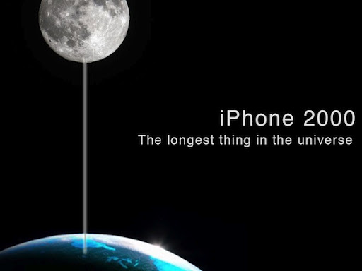 iPhone 2000 to the moon