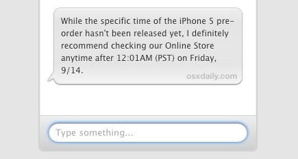 iPhone 5 pre-order start time
