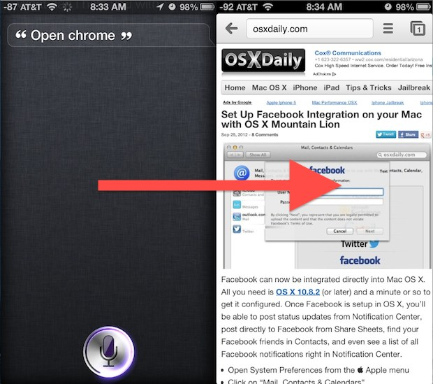 Open Apps with Siri