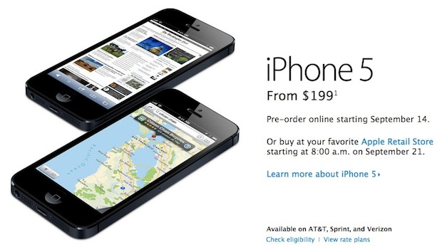 pre-order iPhone 5