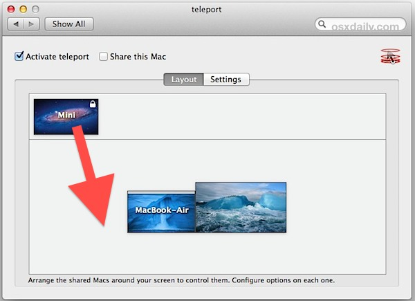 Set up Teleport in Mac OS X for easy keyboard sharing