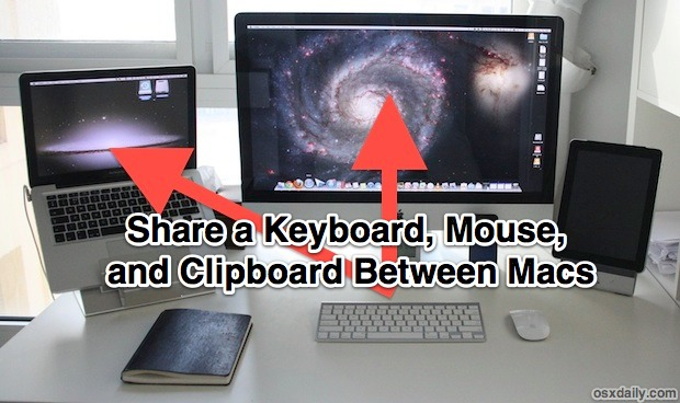 Share a keyboard, mouse, and clipboard with different Macs