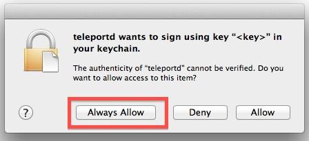 teleportd allow