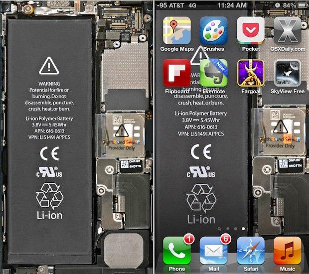 Transparent iPhone 5 wallpaper