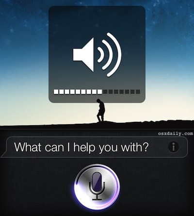 Adjust the volume level of Siri