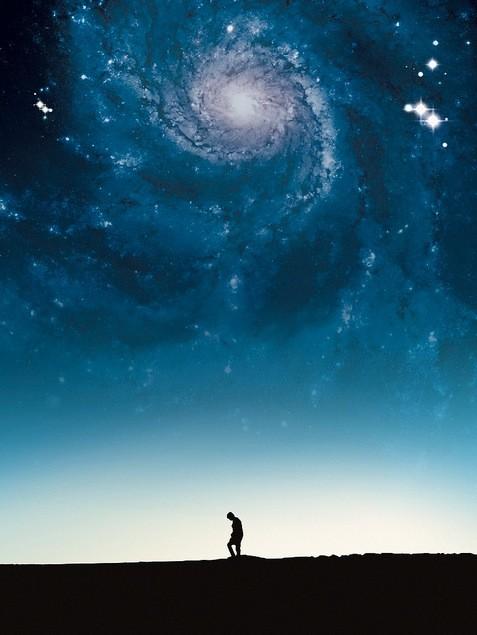 Galaxy over Desert