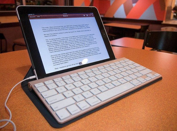 iPad with an external keyboard
