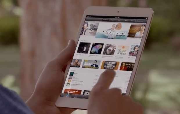 iPad mini in hand from official intro video