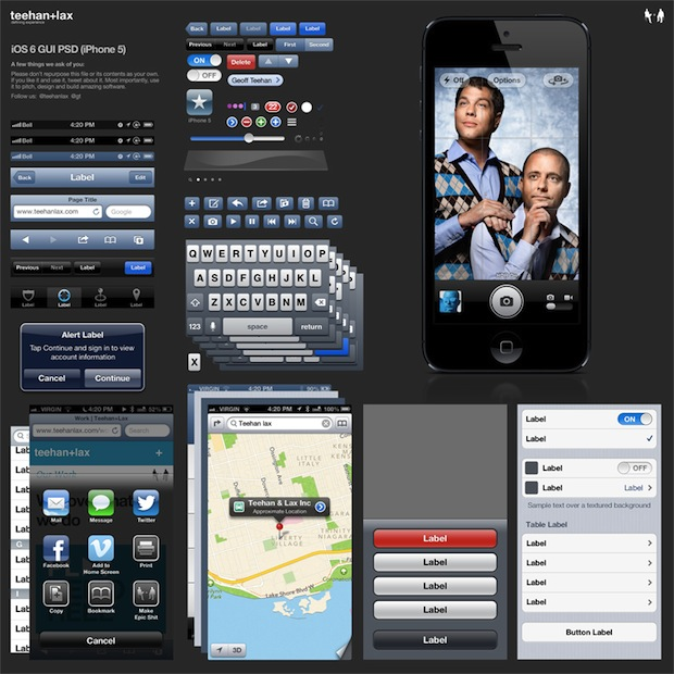 iPhone 5 iOS 6 GUI PSD