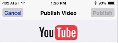 Publish a video directly to YouTube from iOS