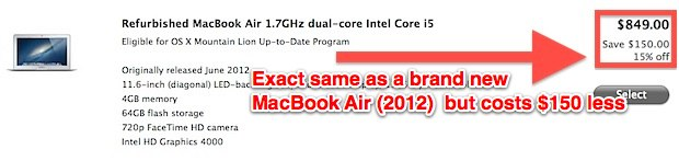 Refurbished Mac discount, even on latest new Mac models