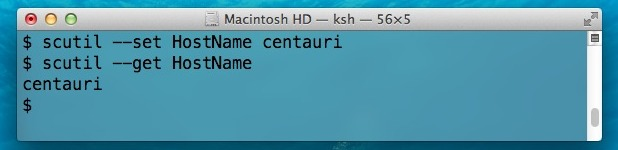 Set Unique Hostname, Computer Name, Bonjour Name in Mac OS X