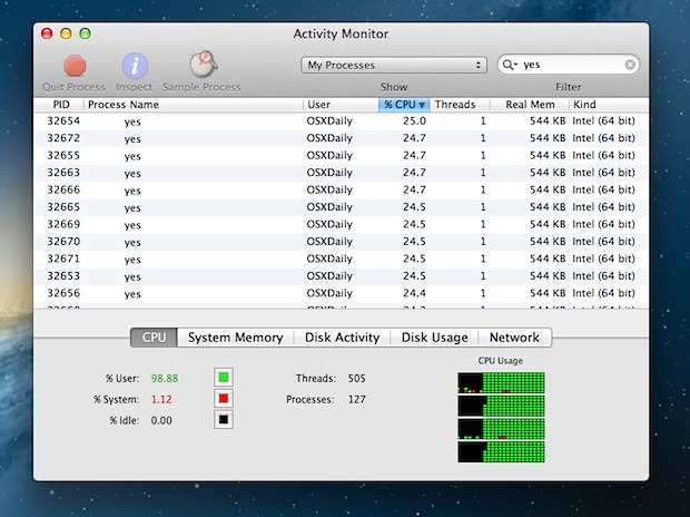 Stress test a Mac by maxing out CPU