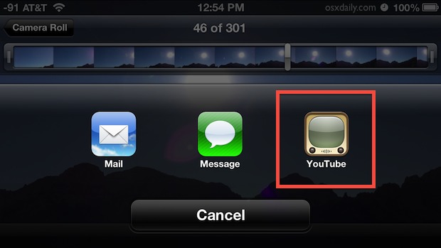 Upload a video directly to YouTube from iOS