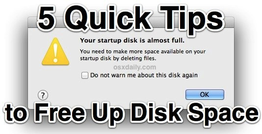 5 Tips to Free Up Disk Space in Mac OS X