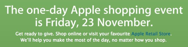 Apple Black Friday sale for 2012