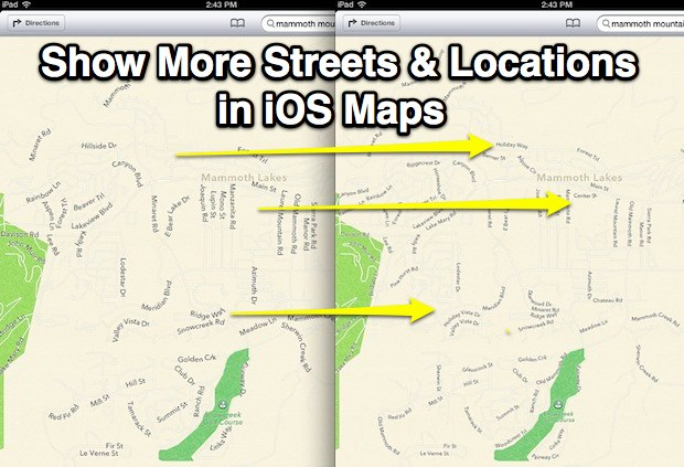 Improve iOS Maps by showing more locations