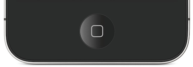 Home button on iPhone