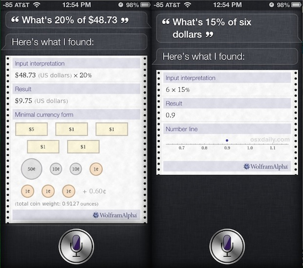 The iPhone becomes a Tip Calculator thanks to Siri