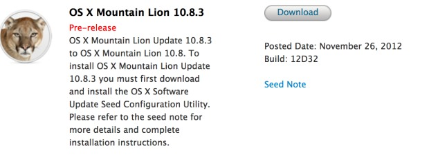 OS X 10.8.3 Beta 1