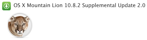 OS X 10.8.2 Supplemental Update 2 for 2012 Macs