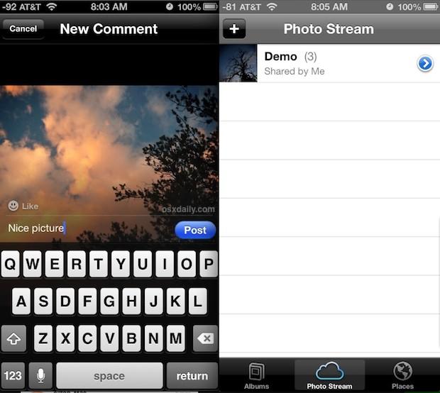 Using Photo Streams in iOS
