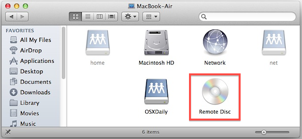 Remote Disc on a MacBook Air