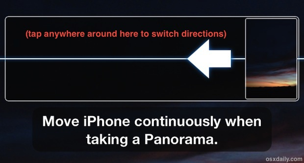How to Switch panorama camera direction
