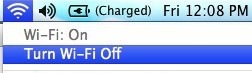 Turn Wi-F off in OS X