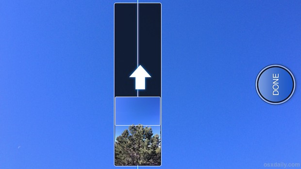 Vertical panorama on iPhone