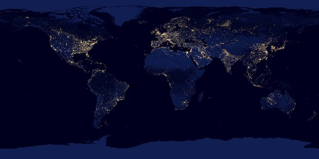 Earth at night, NASA wallpaper