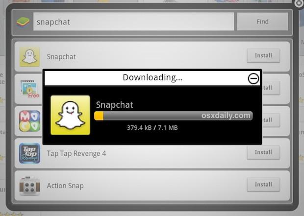 Install Snapchat in Bluestacks on Mac