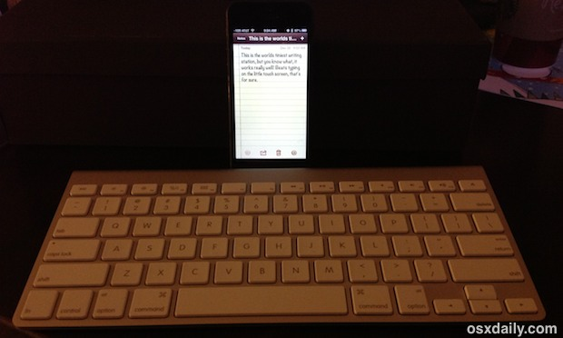 iPhone with an External Keyboard
