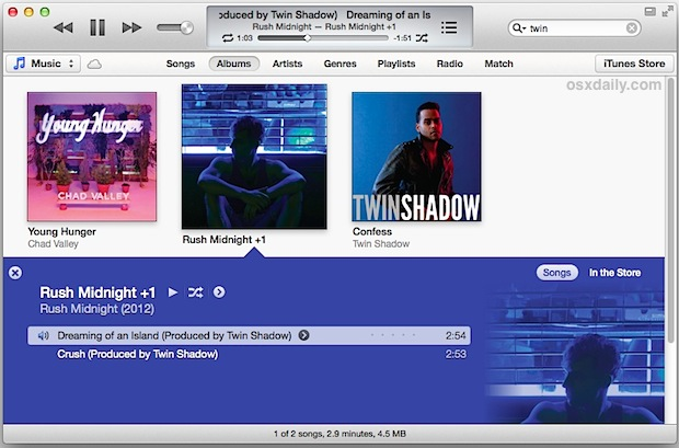iTunes 11 keyboard shortcuts