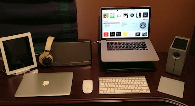 MacBook Pro Retina and iPad desk setup